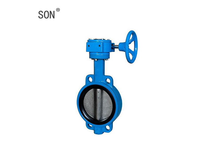 Wafer Type Cast Iron Rubber Seat Butterfly Valve Water Type